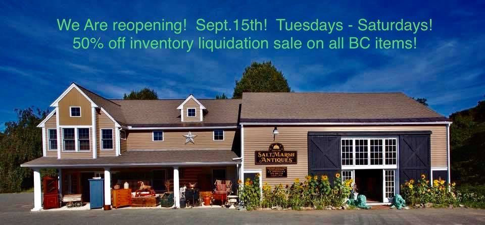 Inventory Liquidation Sale at Salt Marsh