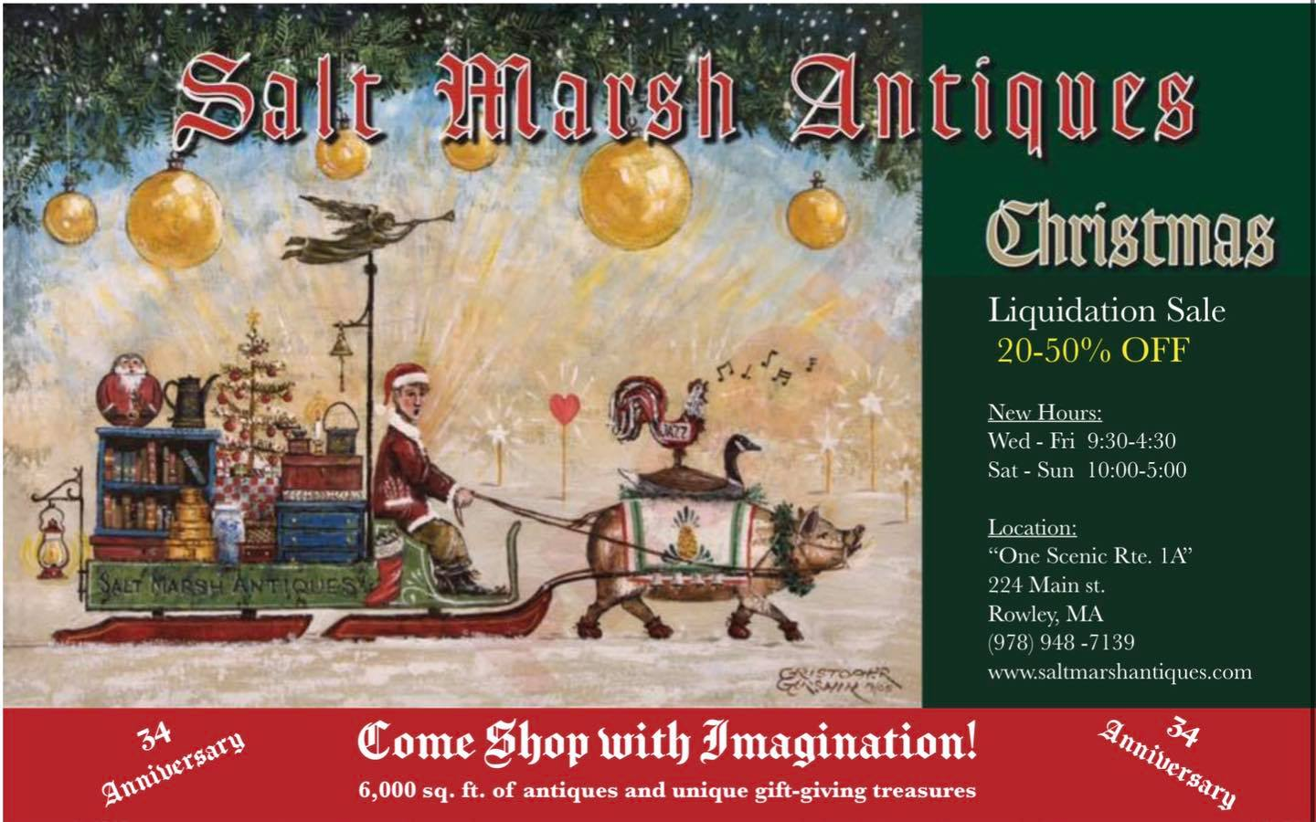 Christmas Inventory Liquidation Sale at Salt Marsh